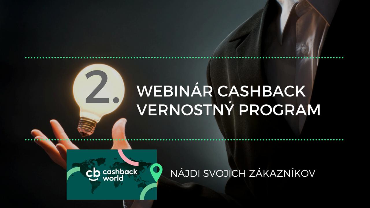 Webinár Cashback vernostný program